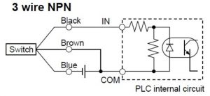 Gambar 4. Switching Sensor NPN dan PNP