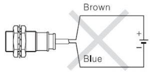 Gambar 4. Penyambungan Sensor 2 Kabel yang Salah